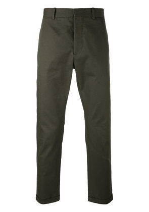 Marni cropped turn-up trousers - Green