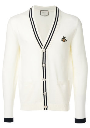 Gucci bee patch cardigan - Nude & Neutrals