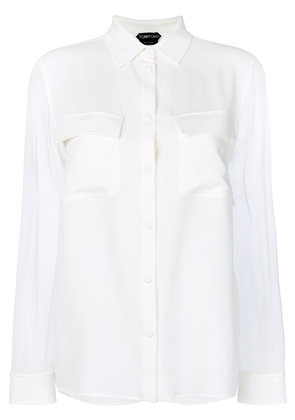 Tom Ford soft fit blouse - White