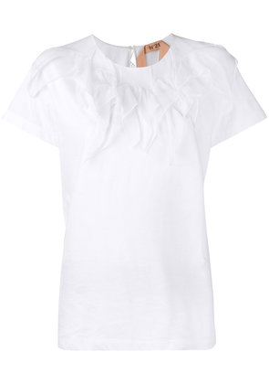 No21 frill-trimmed T-shirt - White