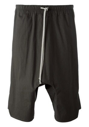 Rick Owens drop-crotch shorts - Grey