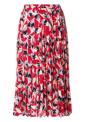 No21 pleated patterned skirt - Red