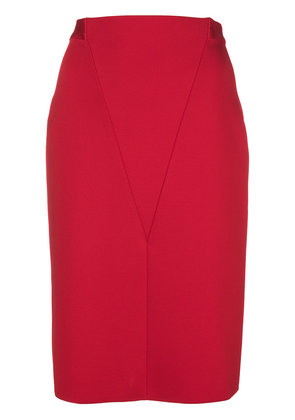 Givenchy V front pencil skirt - Red