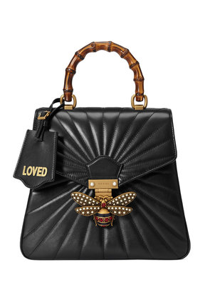 Gucci Queen Margaret quilted leather backpack - Black
