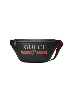 Gucci Gucci Print leather belt bag - Black