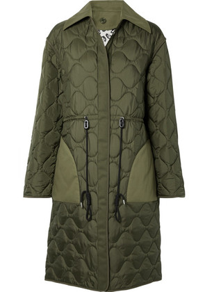 Altuzarra - Creedence Reversible Cotton Twill-trimmed Quilted Shell Coat - Army green