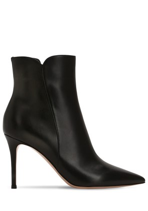 85MM LEVY LEATHER ANKLE BOOTS