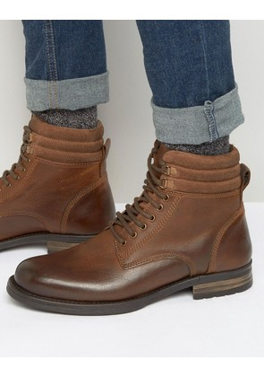 ASOS Lace Up Boots In Brown - Brown