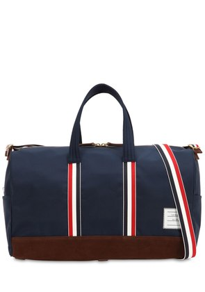 SOFT TECH NYLON & SUEDE DUFFLE BAG
