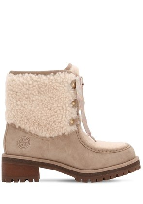 60MM MEADOW SUEDE & SHEARLING BOOTS