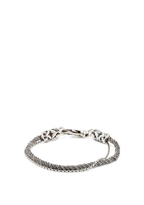 Double-chain sterling-silver bracelet