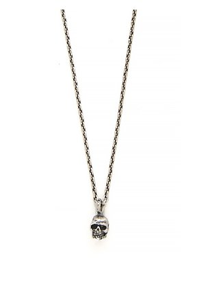 Skull sterling-silver chain necklace