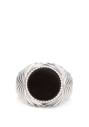 Onyx sterling-silver ring