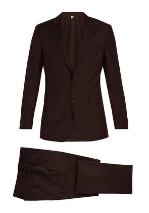Soho single-breasted wool-blend suit