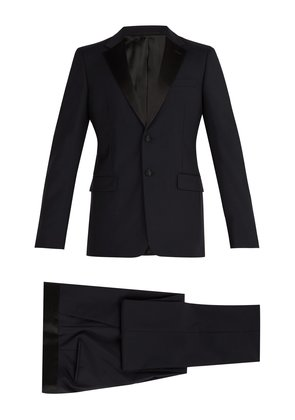 Two-button wool-blend tuxedo