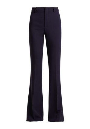 High-rise kick-flare cady trousers