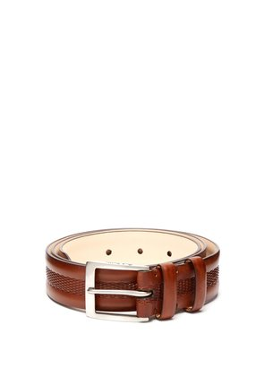 Bombay Edge mesh-debossed leather belt