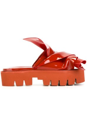 No21 knotted slider sandals - Red