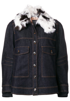 No21 loose fitted jacket - Blue