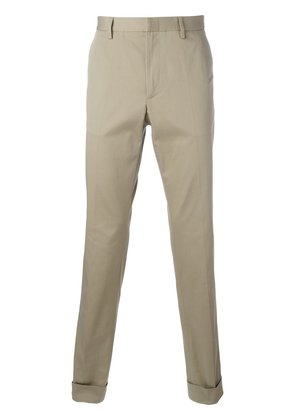 Gucci bee embroidered classic chinos - Nude & Neutrals