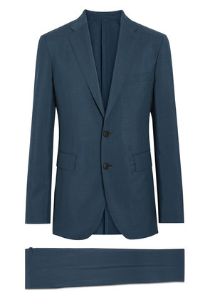 Burberry Soho Fit Wool Mohair Suit - Blue