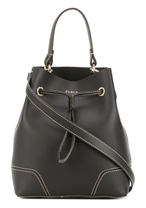 Furla Stacy stitch detail bucket bag - Black