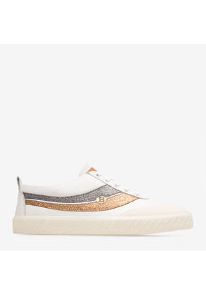 Bally Super Smash White, Women's plain calf leather low-top trainer in white