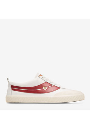 Super Smash White, Womens lamb nappa leather trainer in white Bally