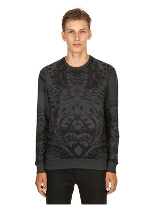 COTTON JACQUARD SWEATSHIRT