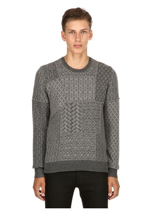 PATCHWORK WOOL JACQUARD SWEATER