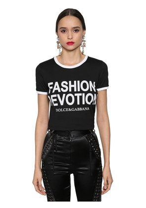 FASHION DEVOTION PRINTED JERSEY T-SHIRT