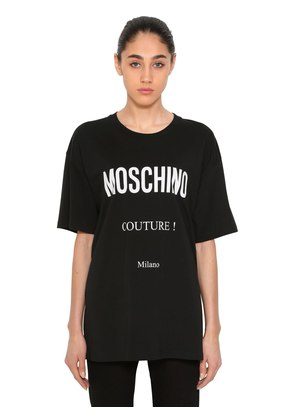 COUTURE! COTTON JERSEY T-SHIRT