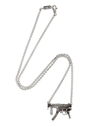 GUN PENDANT SILVER NECKLACE