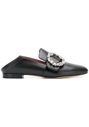 Bally crystal embellished slippers - Black