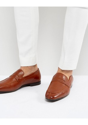 ASOS Loafers In Tan Faux Leather - Tan
