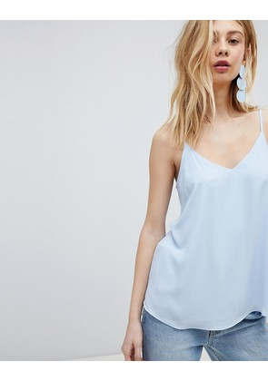 ASOS DESIGN Swing Cami With Double Layer - Blue