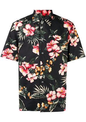 Valentino floral pointed collar shirt - Black