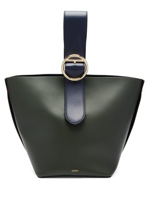 Sevres buckle-handle leather bag
