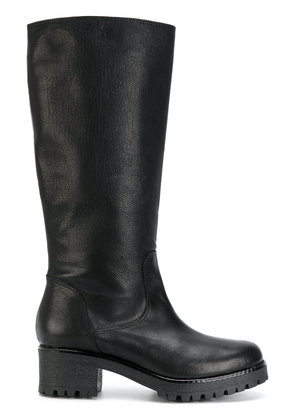 P.A.R.O.S.H. chunky heel equestrian style boots - Black
