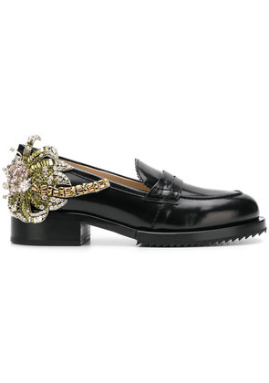 No21 crystal patch chunky loafers - Black