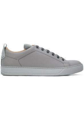 Lanvin contrast lace-up sneakers - Grey