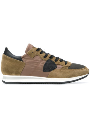 Philippe Model contrast lace-up sneakers - Brown