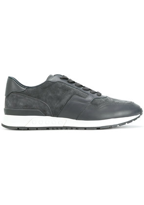 Tod's lace up panelled sneakers - Grey