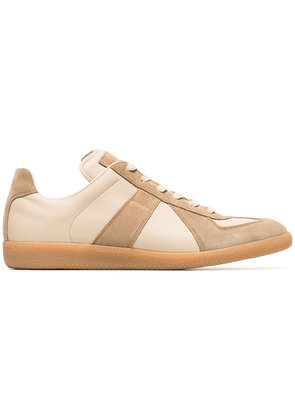 Maison Margiela nude and brown replica leather sneakers - Nude &