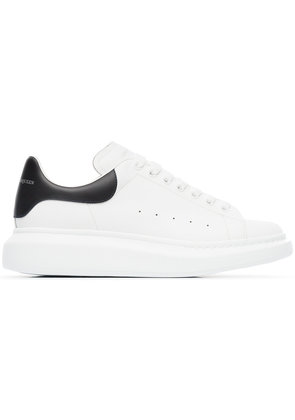 Alexander McQueen navy Oversized leather sneakers - White