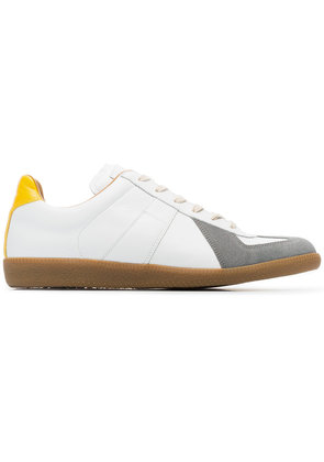 Maison Margiela white and grey replica leather sneakers