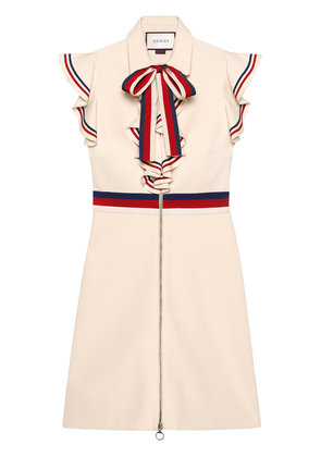 Gucci Sylvie Web stretch jersey dress - Neutrals