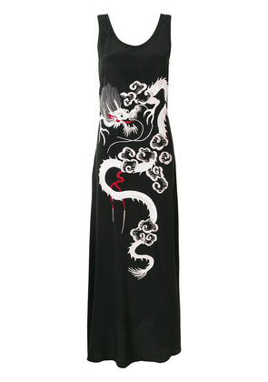 P.A.R.O.S.H. embroidered flared dress - Black