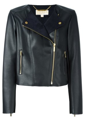 Michael Michael Kors faux leather biker jacket - Black
