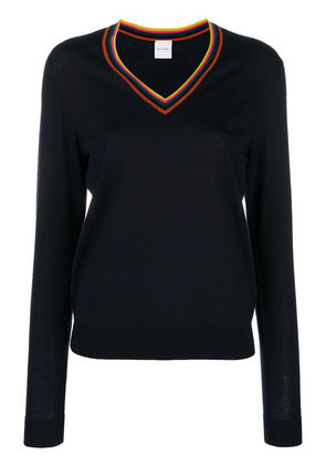 Paul Smith stripe detail sweater - Blue